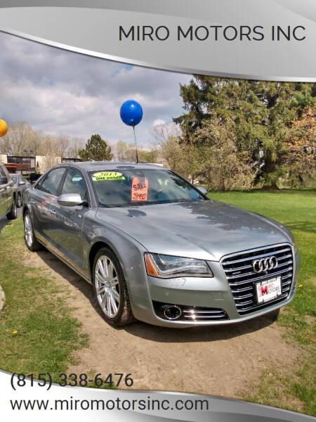 2013 Audi A8 L for sale at Miro Motors INC in Woodstock IL