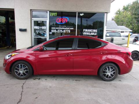 2016 Hyundai Elantra for sale at World Wide Automotive in Sioux Falls SD