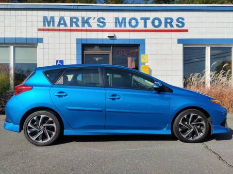 2017 Toyota Corolla iM for sale at Mark's Motors in Northampton MA