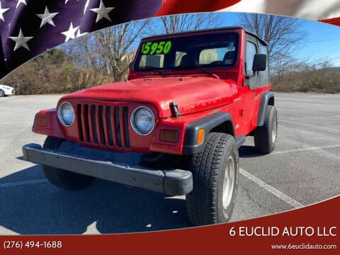 1997 Jeep Wrangler for sale at 6 Euclid Auto LLC in Bristol VA