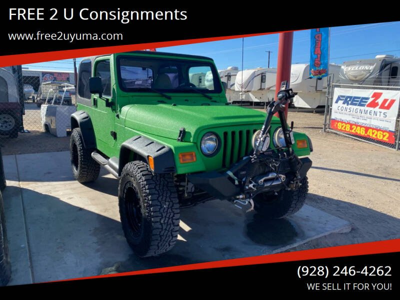 2002 Jeep Wrangler for sale at FREE 2 U Consignments in Yuma AZ