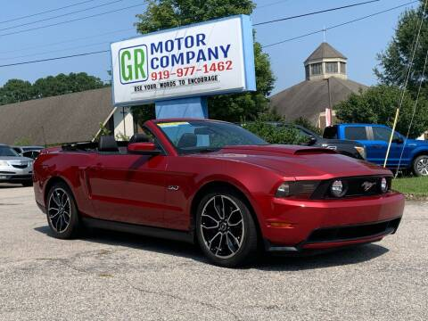 2012 Ford Mustang for sale at GR Motor Company in Garner NC