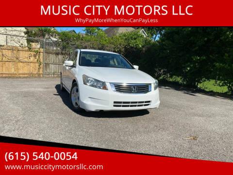 2009 Honda Accord for sale at MUSIC CITY MOTORS LLC in Nashville TN