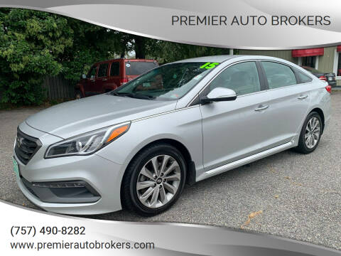2015 Hyundai Sonata for sale at Premier Auto Brokers in Virginia Beach VA