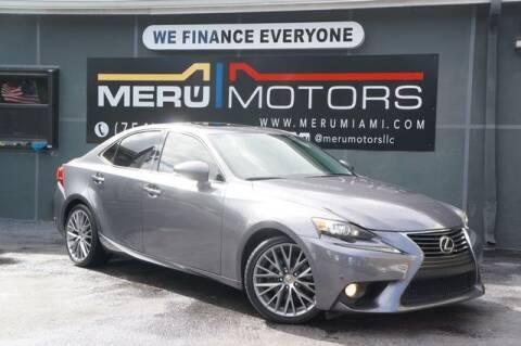 2014 Lexus IS 250 for sale at Meru Motors in Hollywood FL