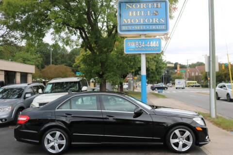 2011 Mercedes-Benz E-Class for sale at North Hills Motors in Raleigh NC