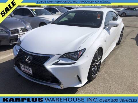 2017 Lexus RC 200t for sale at Karplus Warehouse in Pacoima CA