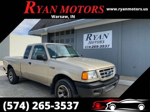 2002 Ford Ranger for sale at Ryan Motors LLC in Warsaw IN