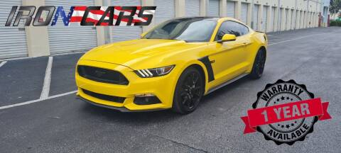 2017 Ford Mustang for sale at IRON CARS in Hollywood FL