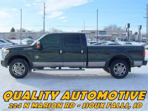 2013 Ford F-250 Super Duty for sale at Quality Automotive in Sioux Falls SD