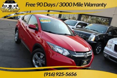 2018 Honda HR-V for sale at West Coast Auto Sales Center in Sacramento CA
