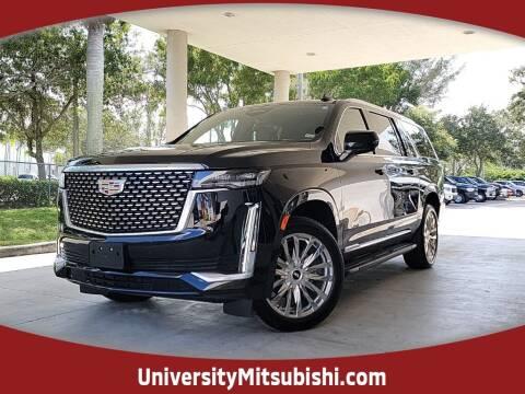 2021 Cadillac Escalade ESV for sale at University Mitsubishi in Davie FL