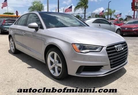 2016 Audi A3 for sale at AUTO CLUB OF MIAMI in Miami FL
