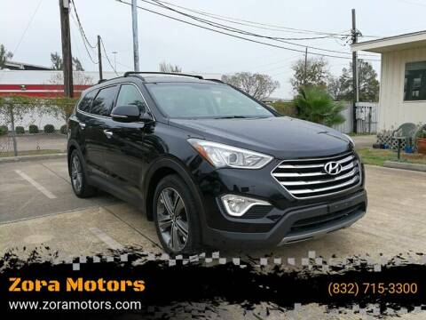2013 Hyundai Santa Fe for sale at Zora Motors in Houston TX