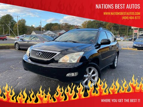 2008 Lexus RX 350 for sale at Nations Best Autos in Decatur GA