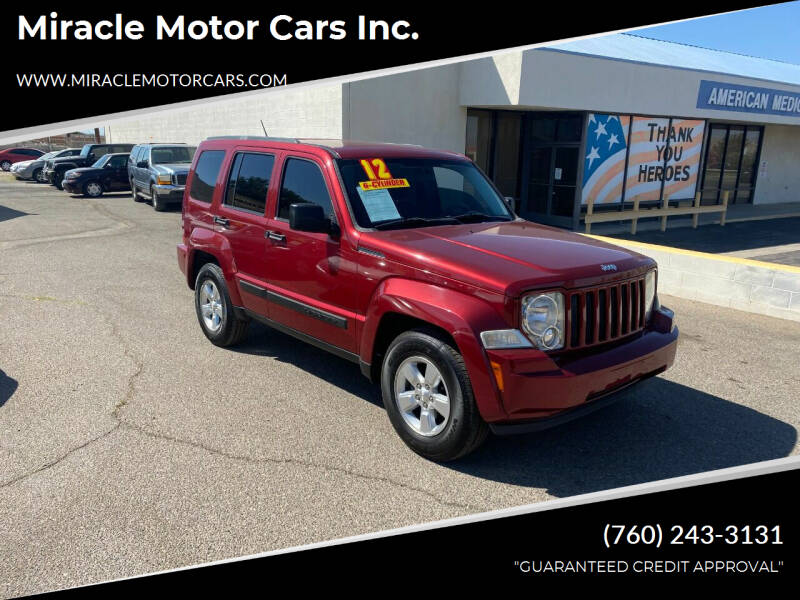 2012 Jeep Liberty for sale at Miracle Motor Cars Inc. in Victorville CA