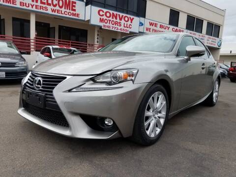 2016 Lexus IS 200t for sale at Convoy Motors LLC in National City CA