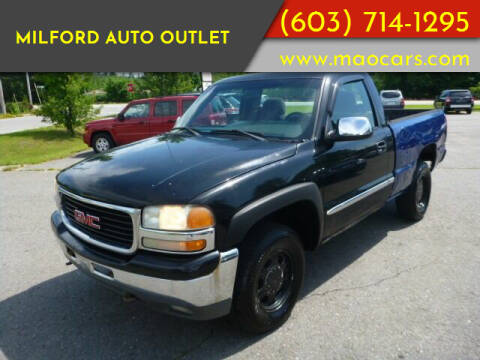 2001 GMC Sierra 1500 for sale at Milford Auto Outlet in Milford NH