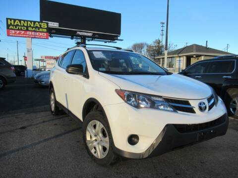 2013 Toyota RAV4 for sale at Hanna's Auto Sales in Indianapolis IN