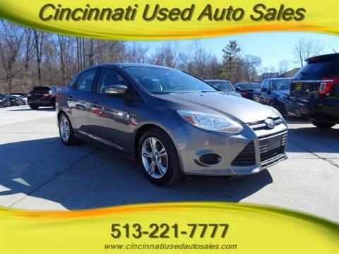 2013 Ford Focus for sale at Cincinnati Used Auto Sales in Cincinnati OH