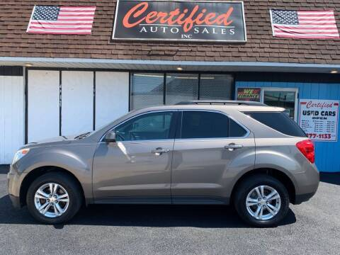 2012 Chevrolet Equinox for sale at Certified Auto Sales, Inc in Lorain OH