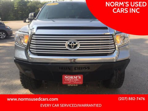 2016 Toyota Tundra for sale at NORM'S USED CARS INC in Wiscasset ME