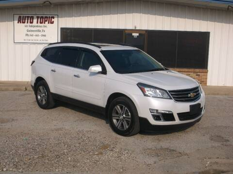 2017 Chevrolet Traverse for sale at AUTO TOPIC in Gainesville TX