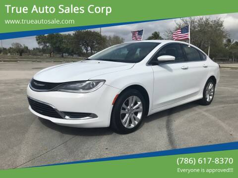 2015 Chrysler 200 for sale at True Auto Sales Corp in Miami FL
