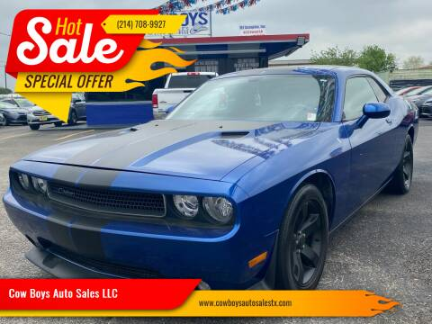 2012 Dodge Challenger for sale at Cow Boys Auto Sales LLC in Garland TX