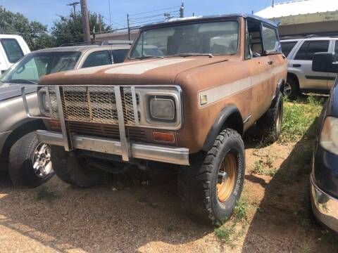 1980 International Scout II for sale at Gloe Auto Sales in Lubbock TX