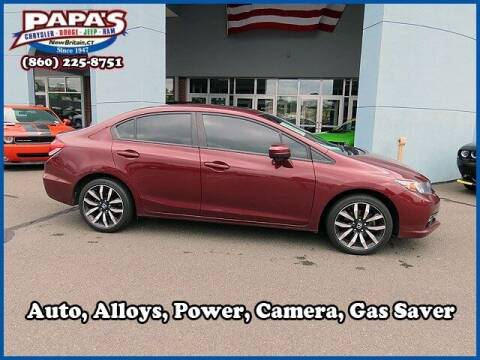 2015 Honda Civic for sale at Papas Chrysler Dodge Jeep Ram in New Britain CT