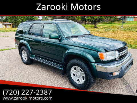 2001 Toyota 4Runner for sale at Zarooki Motors in Englewood CO