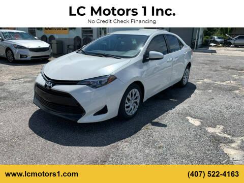 2018 Toyota Corolla for sale at LC Motors 1 Inc. in Orlando FL