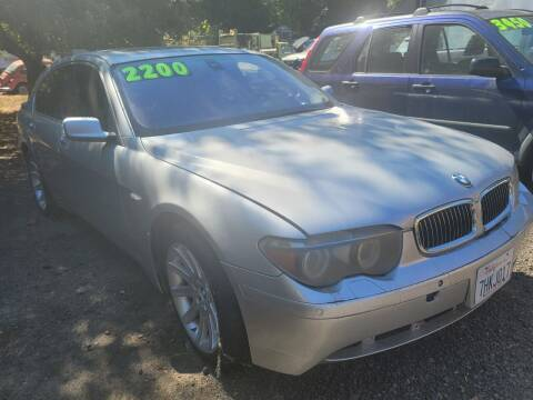 2005 BMW 7 Series for sale at Peggy's Classic Cars in Oregon City OR