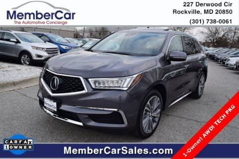 2017 Acura MDX for sale at MemberCar in Rockville MD