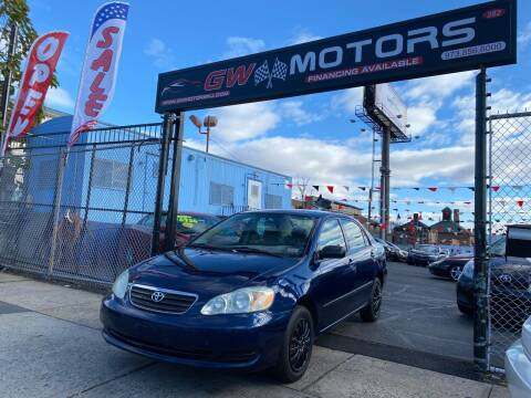 2007 Toyota Corolla for sale at GW MOTORS in Newark NJ