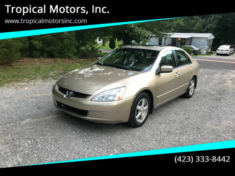 2003 Honda Accord for sale at Tropical Motors, Inc. in Riceville TN