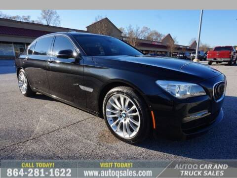 2014 BMW 7 Series for sale at Auto Q Car and Truck Sales in Mauldin SC