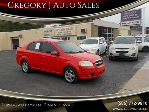 2011 Chevrolet Aveo for sale at Gregory J Auto Sales in Roseville MI