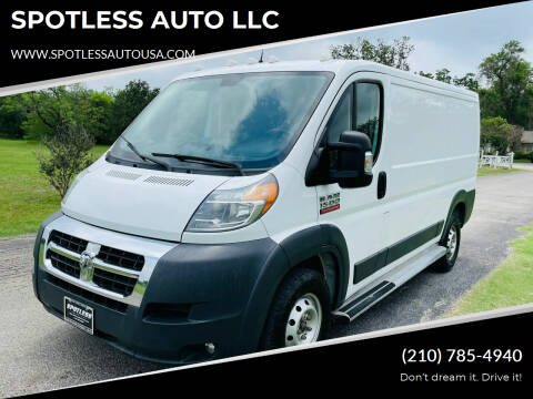 2016 RAM ProMaster Cargo for sale at SPOTLESS AUTO LLC in San Antonio TX