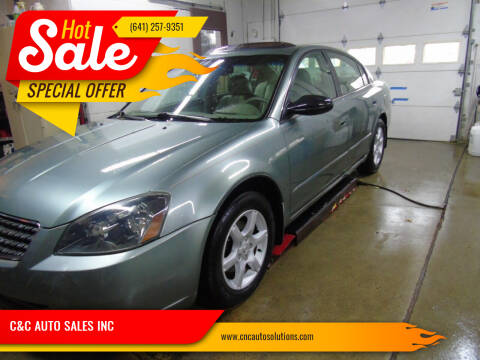 2005 Nissan Altima for sale at C&C AUTO SALES INC in Charles City IA