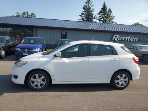 2009 Toyota Matrix for sale at ROSSTEN AUTO SALES in Grand Forks ND