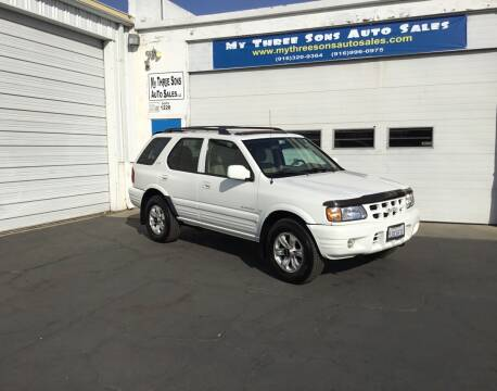 2001 Isuzu Rodeo for sale at My Three Sons Auto Sales in Sacramento CA