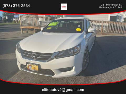 2014 Honda Accord for sale at ELITE AUTO SALES, INC in Methuen MA