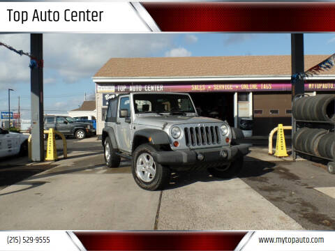 2010 Jeep Wrangler for sale at Top Auto Center in Quakertown PA