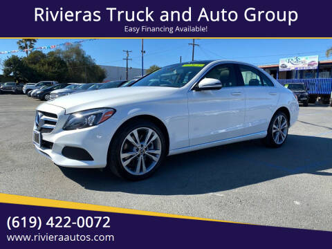 2018 Mercedes-Benz C-Class for sale at Rivieras Truck and Auto Group in Chula Vista CA