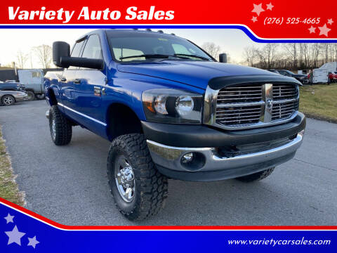 2008 Dodge Ram Pickup 2500 for sale at Variety Auto Sales in Abingdon VA