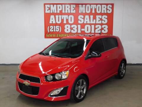 2013 Chevrolet Sonic for sale at EMPIRE MOTORS AUTO SALES in Philadelphia PA