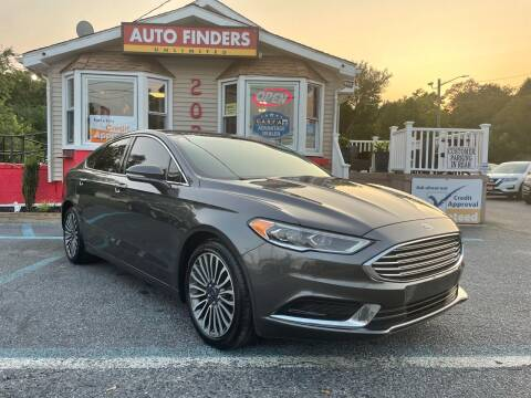 2018 Ford Fusion for sale at Auto Finders Unlimited LLC in Vineland NJ