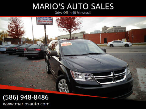 2017 Dodge Journey for sale at MARIO'S AUTO SALES in Mount Clemens MI